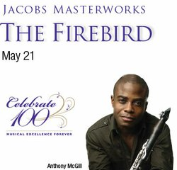 Promotional graphic for the San Diego Symphony's Firebird with the McGill brothers.