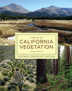 "Graphic cover of ""A Manual of California Vegetation"" by D..."