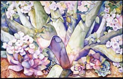 """Monte Vista Agave"" Watercolor by Helen Helen Shafer Garcia; Collection of Carolyn Dalton."