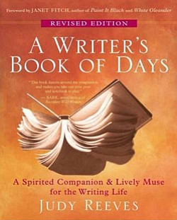 "Graphic cover for ""A Writer's Book of Days,"" by San Diego author Judy Reeves."