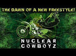 """Promotional graphic for the Nuclear Cowboyz """"THE DAWN OF ..."""