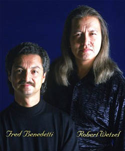 Composed of two experienced classical guitarists , Robert Wetzel and Fred Benedetti, the Odeum Guitar Duo was formed in 1991 in San Diego, California through their mutual love both for the classical guitar as well as for the beautiful innovative music that can be performed on two guitars.