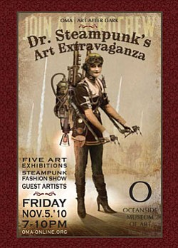 Promotional graphic for Art After Dark: Dr. Steampunk's A...