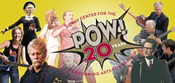 Promotional graphic for Poway Performing Arts Center's 20 year celebration.