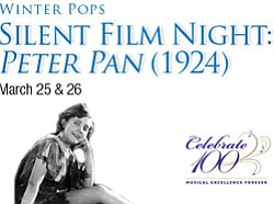 "Promotional graphic for the San Diego Symphony's presentation of ""Peter Pan."""