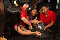 Kids having fun with science at the Reuben H. Fleet Science Center, located at 1875 El Prado, San Diego, CA 92101.