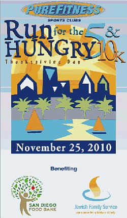 Poster for the 9th annual Run for the Hungry Thanksgiving Day event.