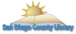 Graphic logo for the San Diego County Library