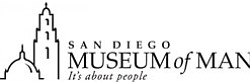 Graphic logo for the San Diego Museum of Man, located in ...