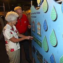 Guests enjoy Senior Monday at the Reuben H. Fleet Science Center.