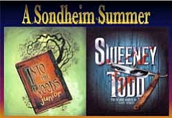 "Graphic image for Arts Off Broadway's production ""A Sondheim Summer."""