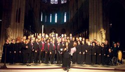 Group photo of the Southwestern College Concert Choir, now in its 48th consecutive season.