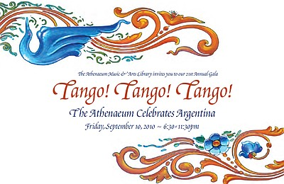 "Event graphic for the ""Tango! Tango! Tango!: The Athenaeu..."