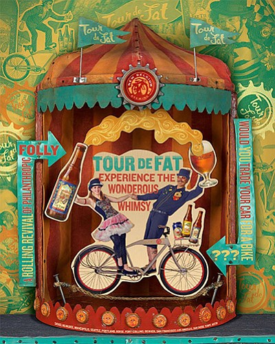 "Graphic image for New Belgium's nation-wide Bike Festival ""Tour de Fat."""
