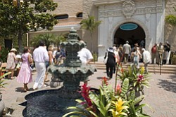 Exterior shot of the entrance to the Del Mar Thoroughbred...