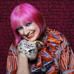 Image of fashion designer Zandra Rhodes.