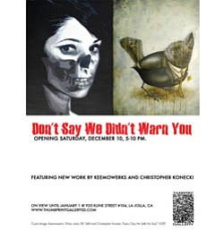 "Promotional Graphic for ""Don't Say We Didn't Warn You."""
