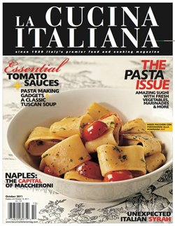 "Magazine Cover Image of La Cucina Italiana, ""The Pasta Issue."""