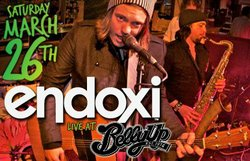 Promotional image for the Endoxi show at Belly Up Tavern on March 26, 2011.
