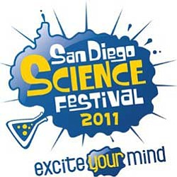 Graphic logo for the 2011 San Diego Science Festival