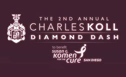 Promotional logo for the 2nd Annual Charles Koll Diamond Dash.