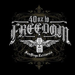 Promotional logo for the 40 oz to Freedom (Sublime Tribut...