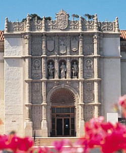 Graphic of San Diego Museum of Art (Exterior View).