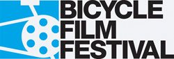 Promotional logo for the Bicycle Film Festival.