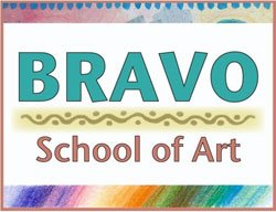Graphical logo for Bravo School of Art.