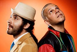 Promotional photo of Calle 13.