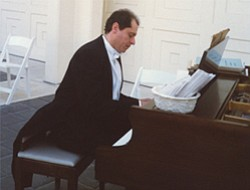 Promotional Graphic of Pianist Dmitry Kirichenko Performing At A Fundraising Event in San Diego.