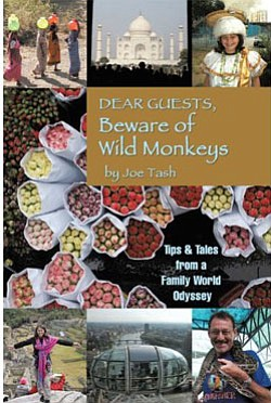 "Book cover of Joe Tash's ""Dear Guests, Beware of Wild Monkeys""."