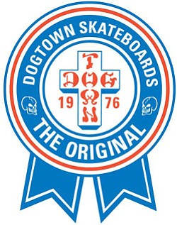 Graphical logo of Dog Town Skateboards.