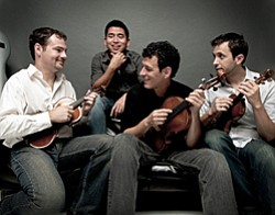 Graphic of Musical Artist Euclid Quartet.