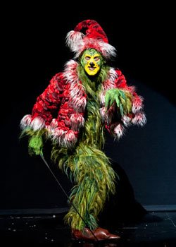 Steve Blanchard stars as The Grinch in the 2011 production of Dr. Seuss' How the Grinch Stole Christmas! at The Old Globe. The annual holiday musical runs Nov. 19 - Dec. 31, 2011. Photo by Henry DiRocco.