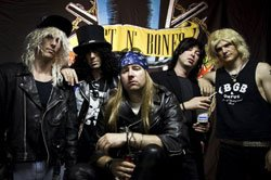 Photo of the band members in Dust N Roses.