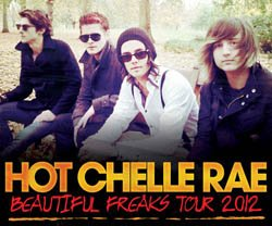 Promotional photo of musical artist Hot Chelle Rae.