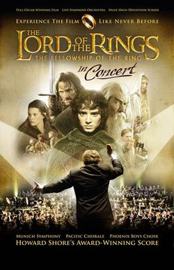 "Promotional Graphic for ""Lord Of The Rings In Concert,"" October 13th, 2011 at 7:30 p.m., at Valley View Casino Center."