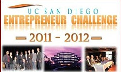 Graphic logo for UC San Diego Entrepreneur Challenge.