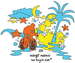 Promotional Logo for 2011 Midnight Madness Fun Bicycle Ride.