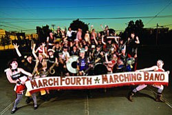 Image of the March Fourth Marching Band.