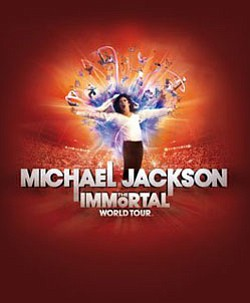 Promotional image for Michael Jackson's Immortal World Tour.