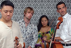 Promotional photo of Miró Quartet.