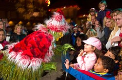 "The sixth annual Old Globe Christmas Tree Lighting takes place on Nov. 20 at 6:00 p.m and kicks off the holiday season in conjunction with San Diego's favorite holiday musical, ""Dr. Seuss' How the Grinch Stole Christmas!"" Photo courtesy of The Old Globe."