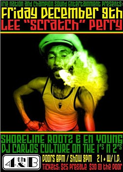 "Promotional Graphic for Lee ""Scratch"" Perry."