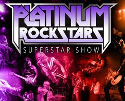 Promotional graphic for The Platinum Rockstars.
