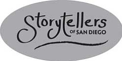 Graphic logo for San Diego Storytellers
