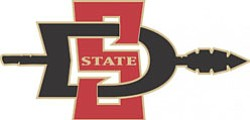 Graphical logo for San Diego State University.