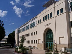 Exterior image of San Diego State's GMCS building.