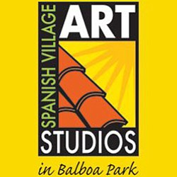 Graphical logo for the Spanish Village Art Studios.